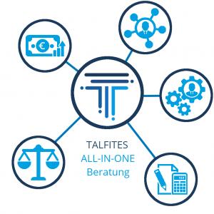 Leistungen von TALFITES: All-in-one-Beratung Finanz - Vertrieb - Technik - Steuer - Recht